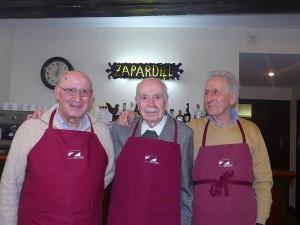 Ezkerretik eskumara José Luis Vargas, Pepe Eguilaz y Jesús Ordoñana.