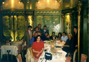 Miembros de la sociedad Zapardiel en La Fermette Marboeuf